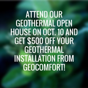 ernst geothermal open house