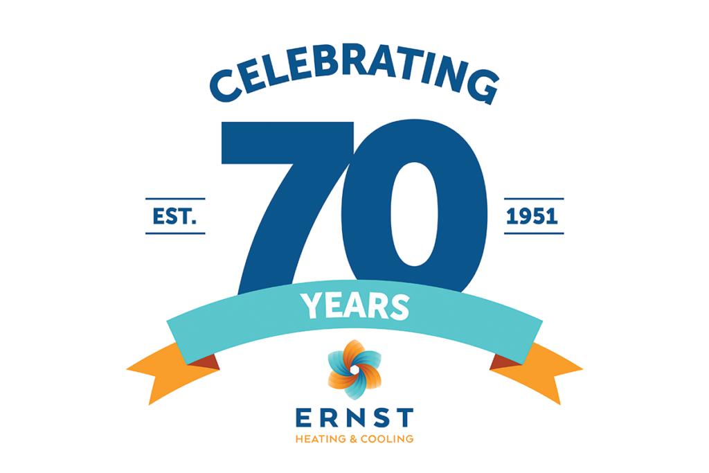 Ernst 70th anniversary logo